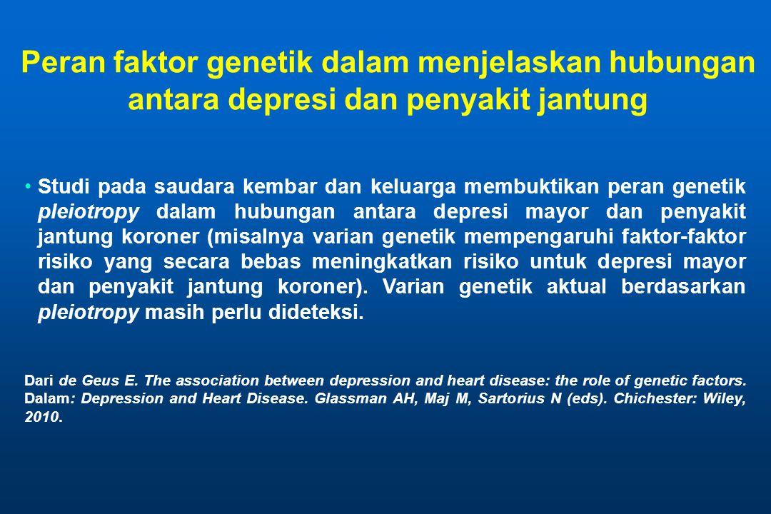 Peran faktor genetik dalam menjelaskan hubungan antara depresi dan penyakit jantung