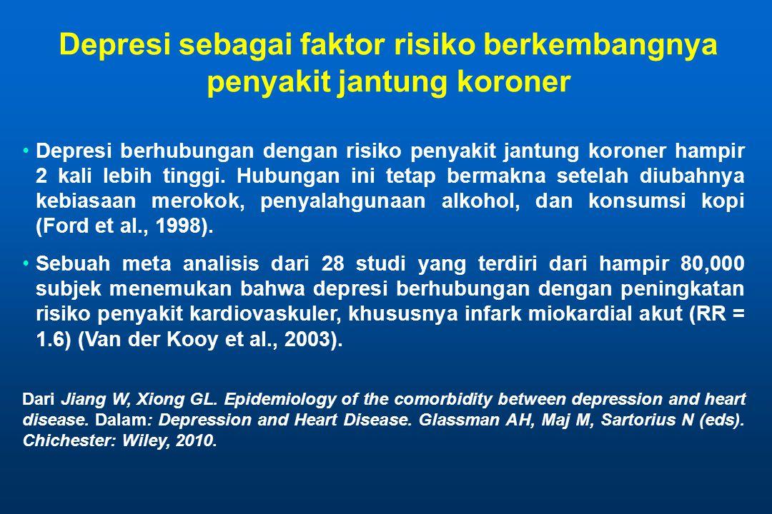 Depresi sebagai faktor risiko berkembangnya penyakit jantung koroner