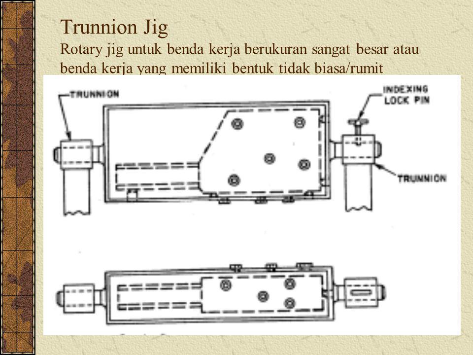 Trunnion Jig Rotary jig untuk benda kerja berukuran sangat besar atau benda kerja yang memiliki bentuk tidak biasa/rumit
