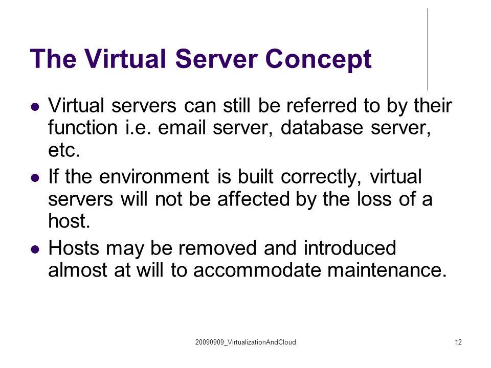 The Virtual Server Concept