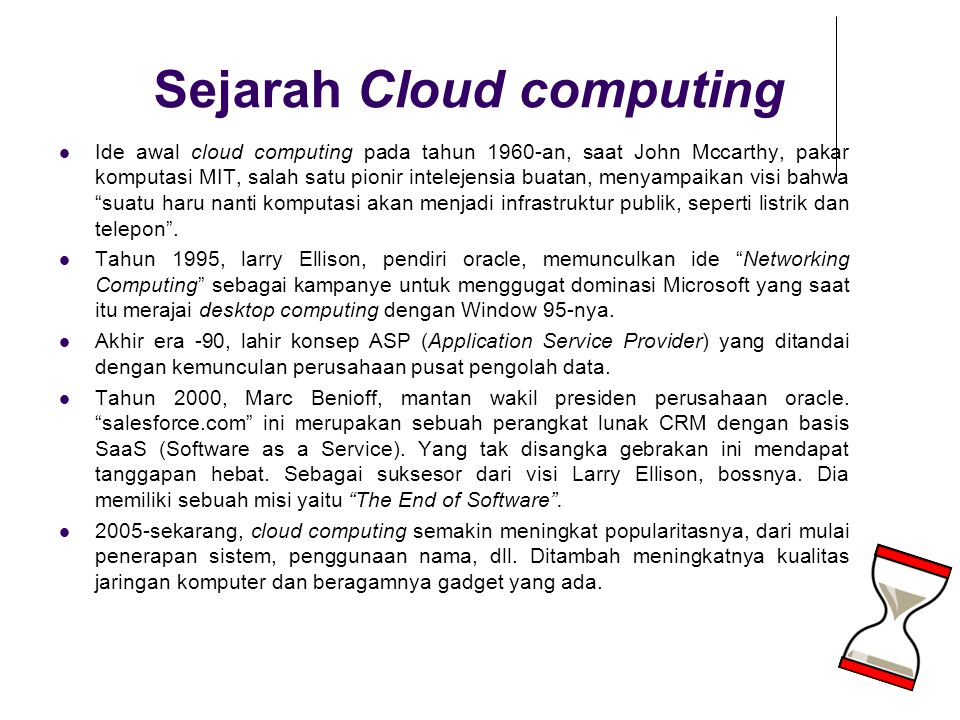 Sejarah Cloud computing