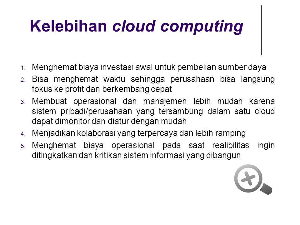Kelebihan cloud computing