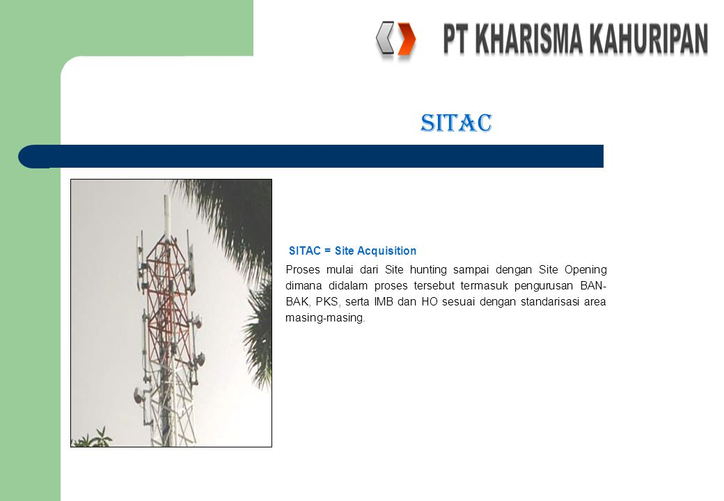 sitac SITAC = Site Acquisition