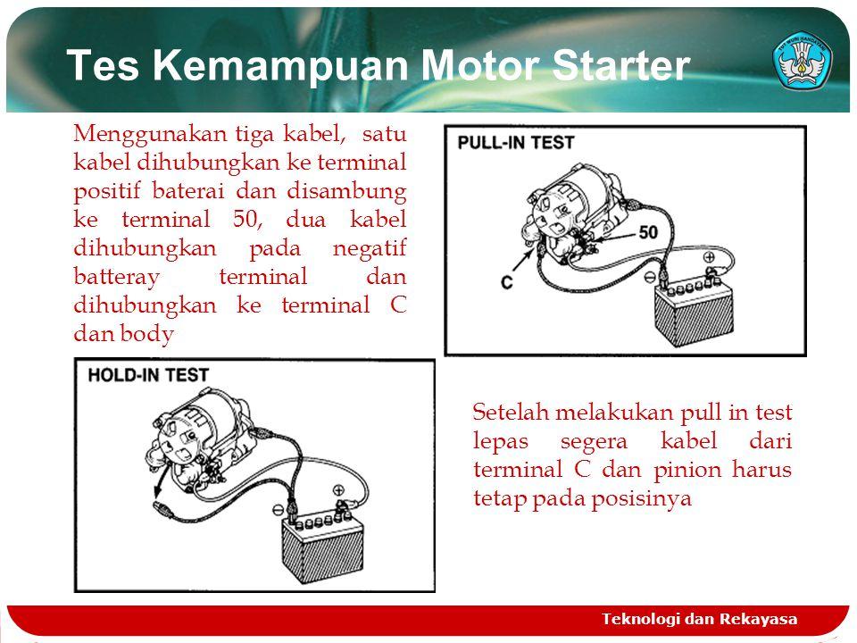 Tes Kemampuan Motor Starter