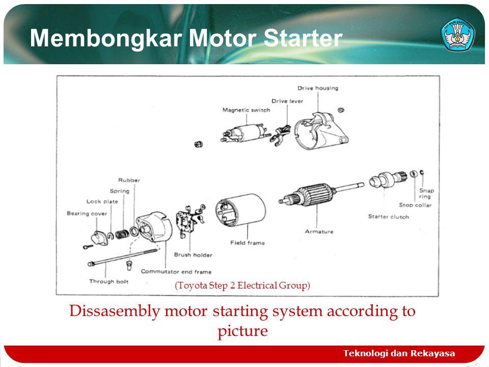 Membongkar Motor Starter