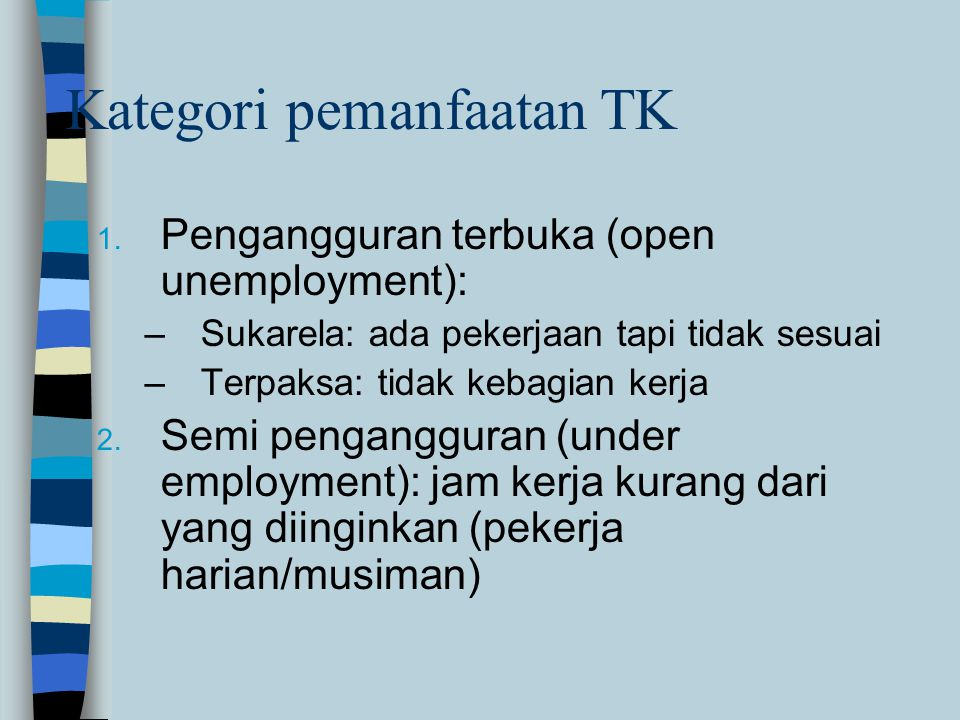 Kategori pemanfaatan TK