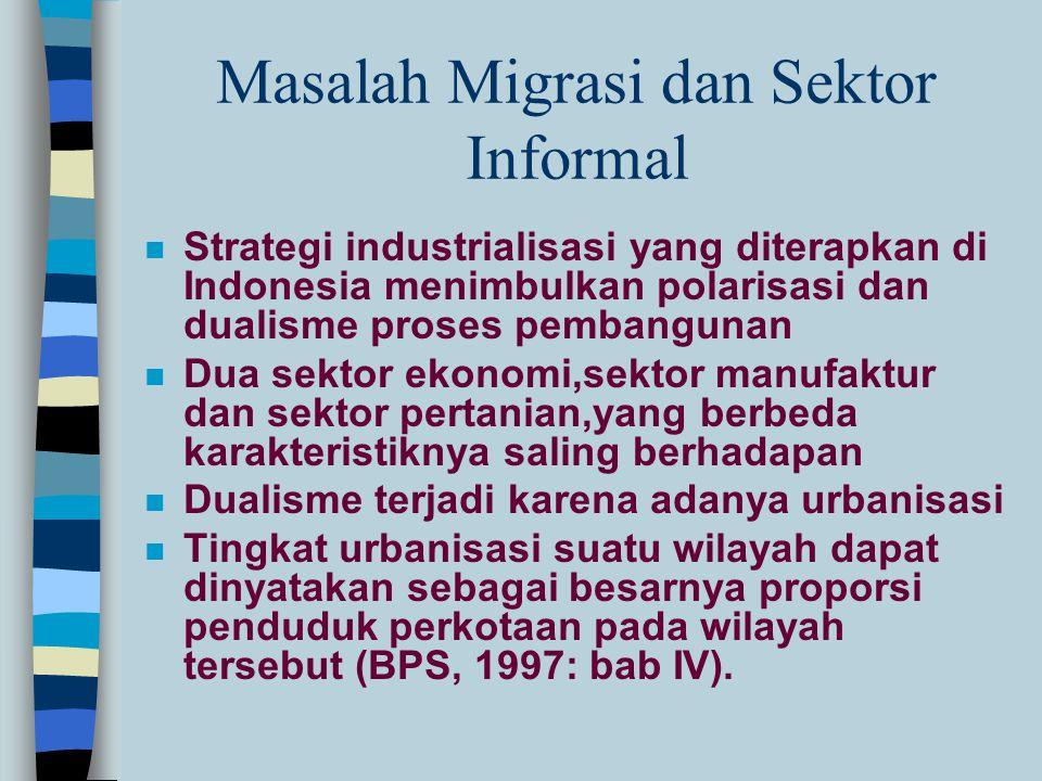 Masalah Migrasi dan Sektor Informal