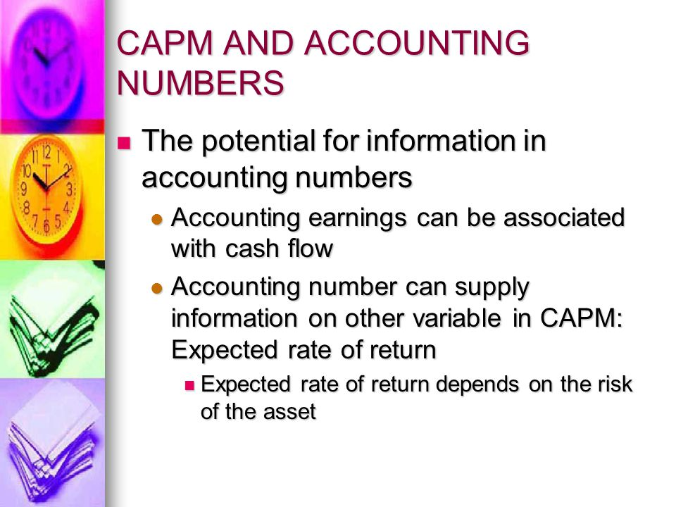 CAPM AND ACCOUNTING NUMBERS