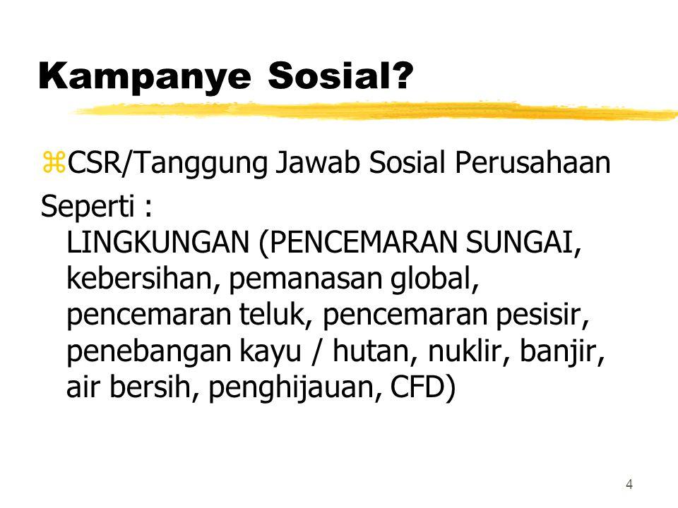 Kampanye Sosial CSR/Tanggung Jawab Sosial Perusahaan