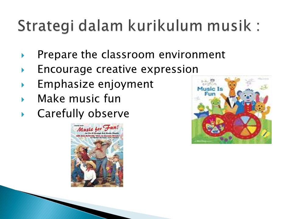 Strategi dalam kurikulum musik :