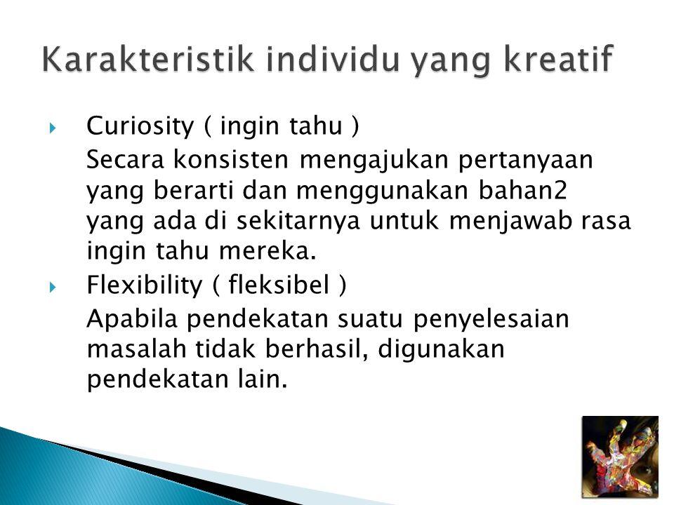 Karakteristik individu yang kreatif