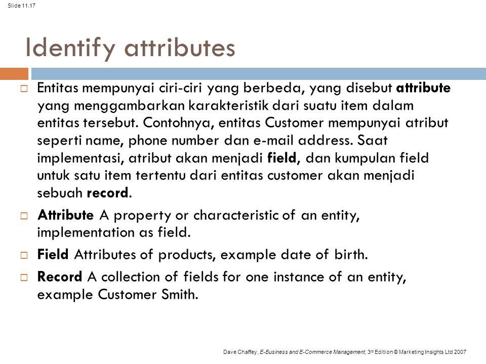 Identify attributes