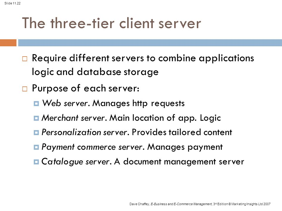 The three-tier client server