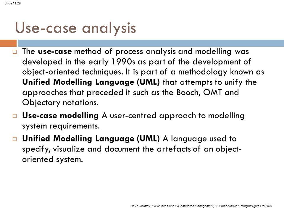 Use-case analysis