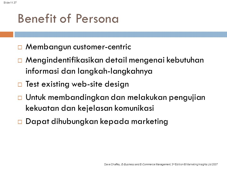 Benefit of Persona Membangun customer-centric