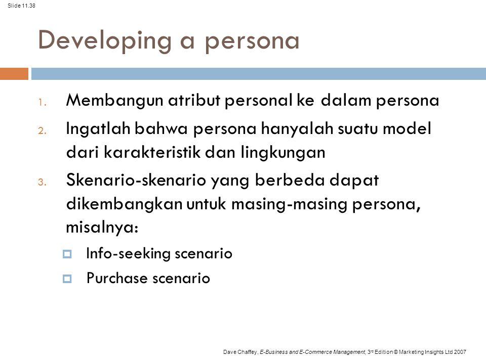 Developing a persona Membangun atribut personal ke dalam persona