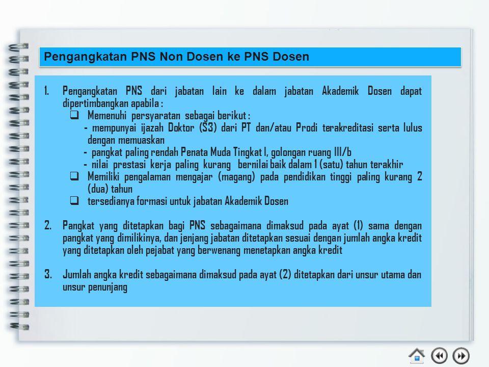 Pengangkatan PNS Non Dosen ke PNS Dosen