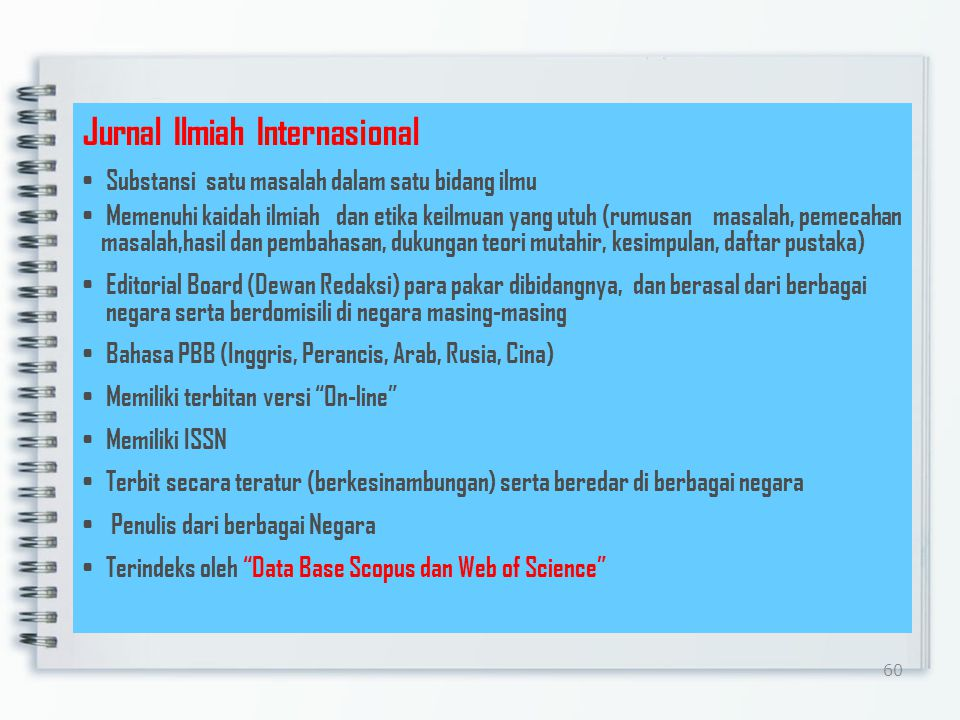 Jurnal Ilmiah Internasional