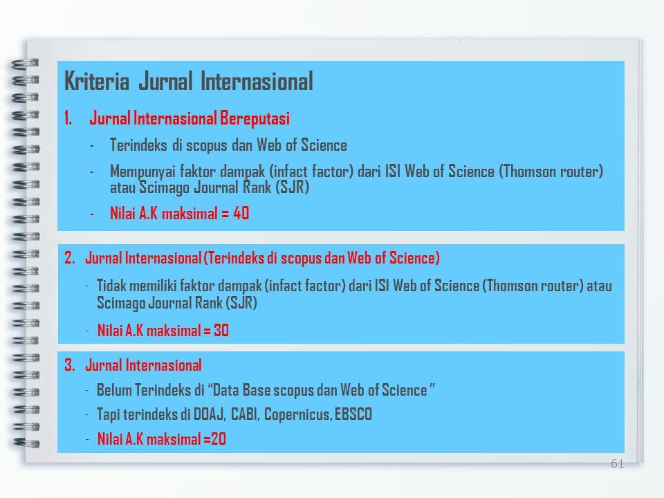 Kriteria Jurnal Internasional