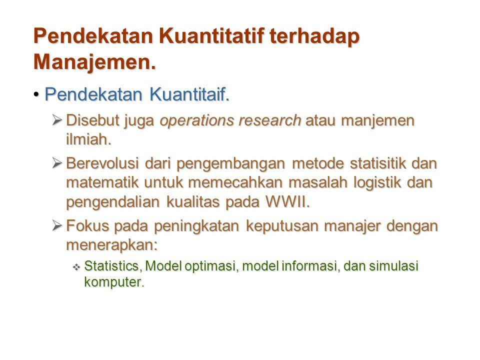 Pendekatan Kuantitatif terhadap Manajemen.
