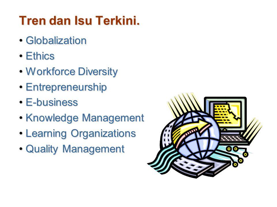 Tren dan Isu Terkini. Globalization Ethics Workforce Diversity