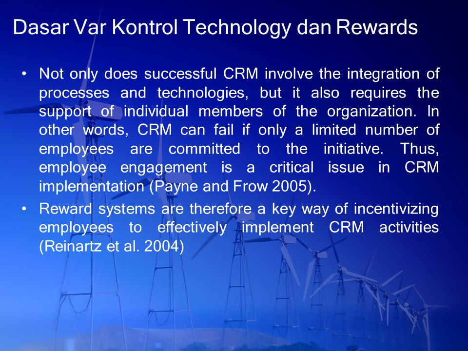 Dasar Var Kontrol Technology dan Rewards