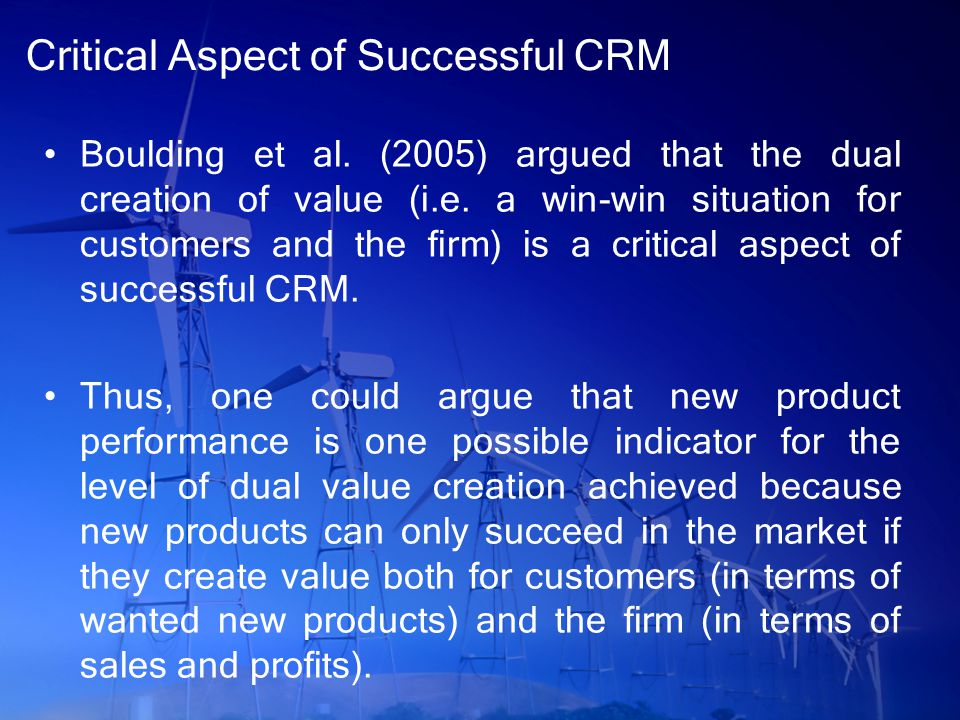 Critical Aspect of Successful CRM