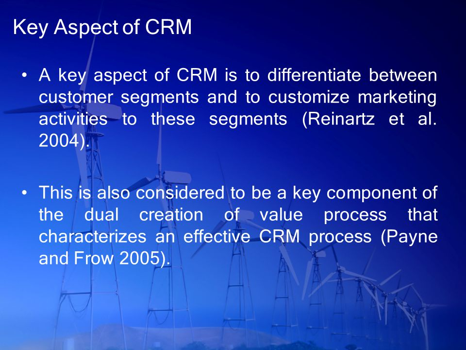 Key Aspect of CRM