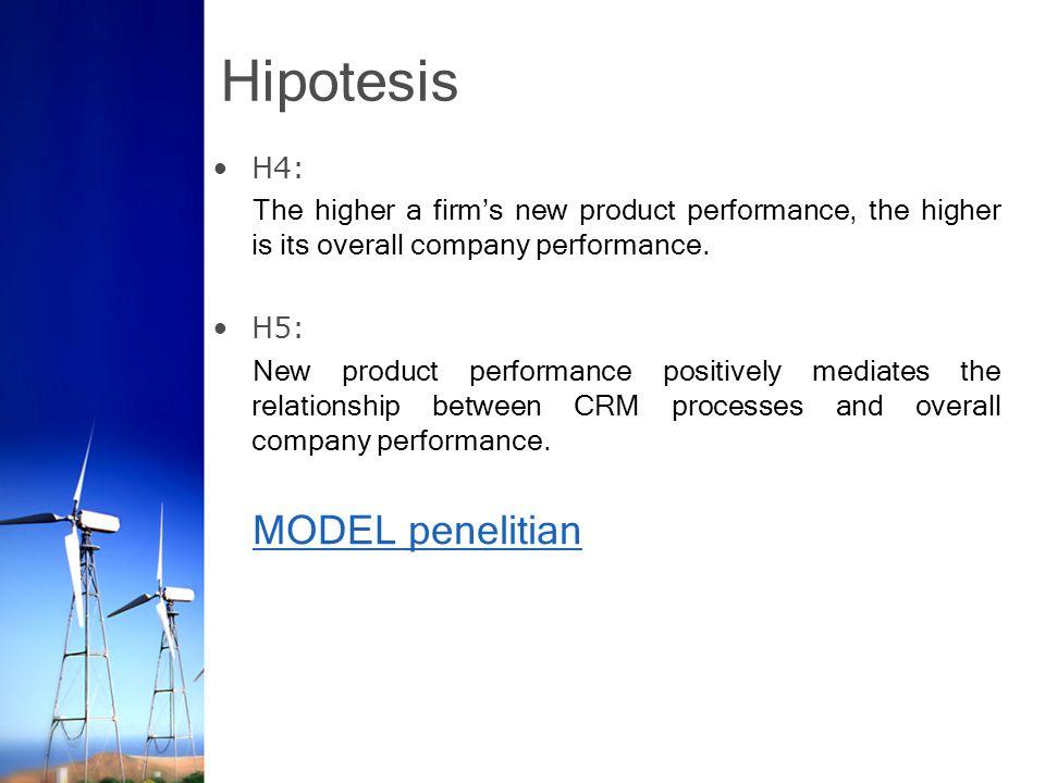 Hipotesis MODEL penelitian H4: