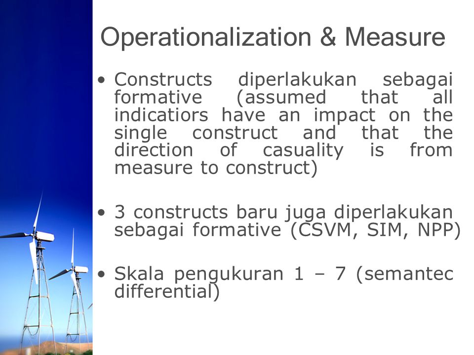 Operationalization & Measure