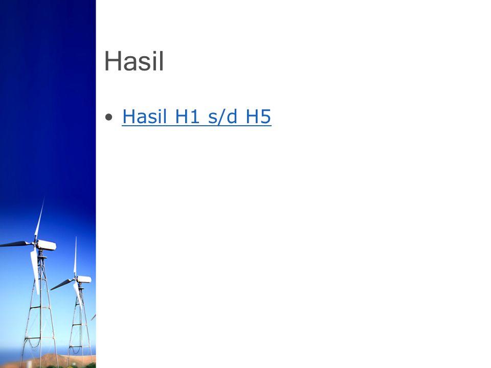 Hasil Hasil H1 s/d H5
