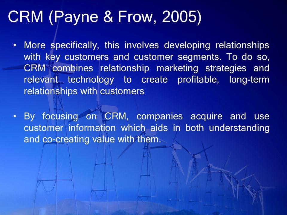 CRM (Payne & Frow, 2005)