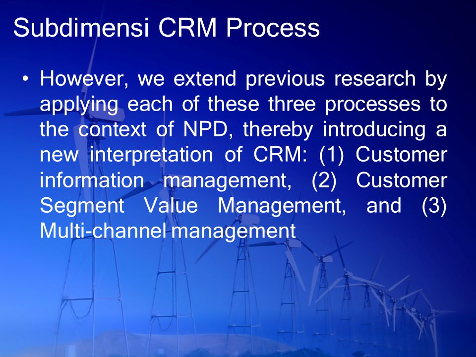 Subdimensi CRM Process