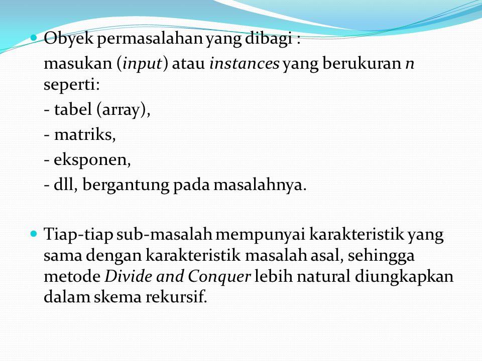 Obyek permasalahan yang dibagi :