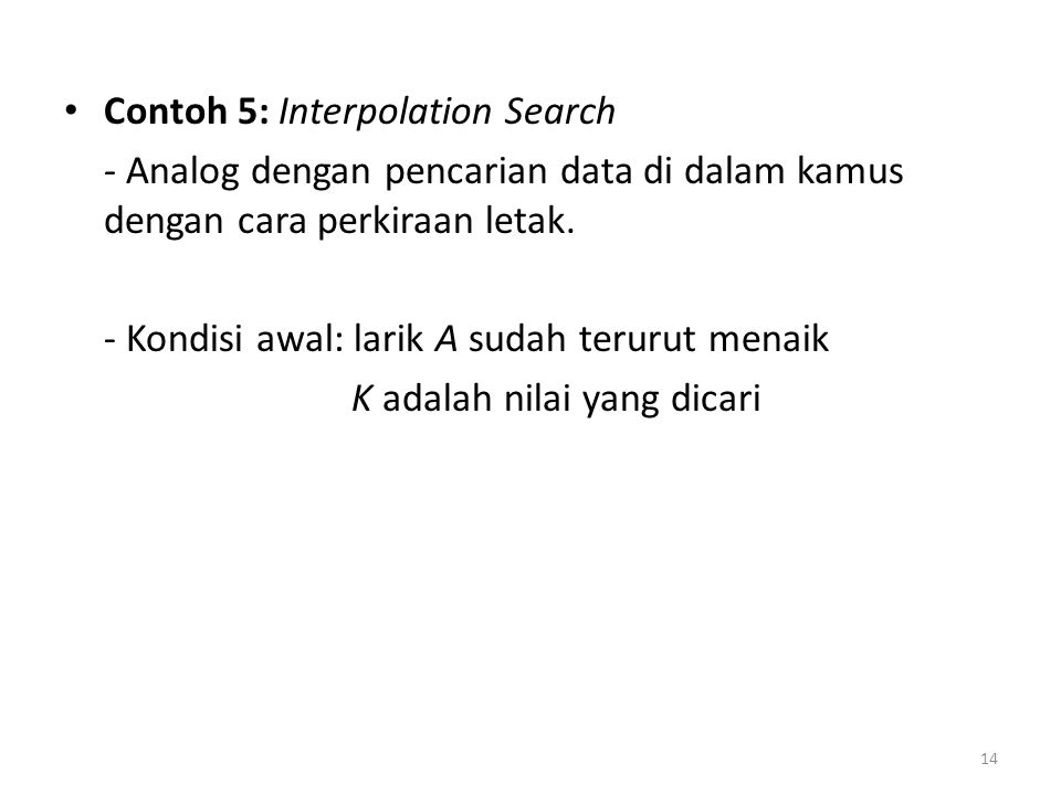 Contoh 5: Interpolation Search