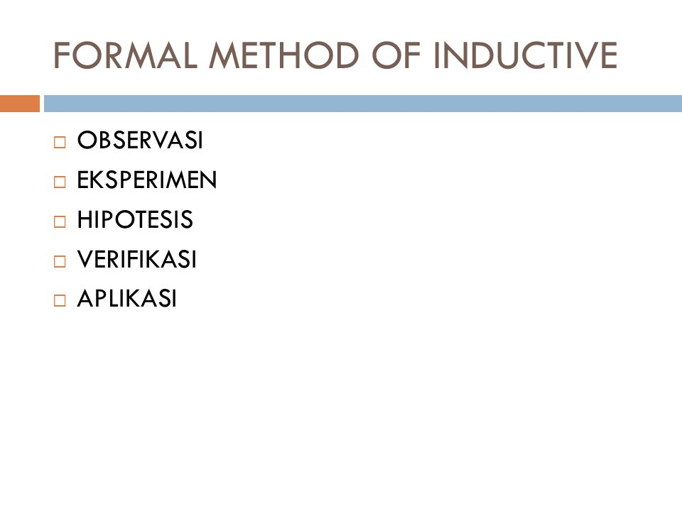 FORMAL METHOD OF INDUCTIVE