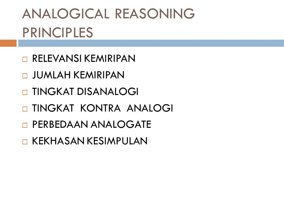 ANALOGICAL REASONING PRINCIPLES