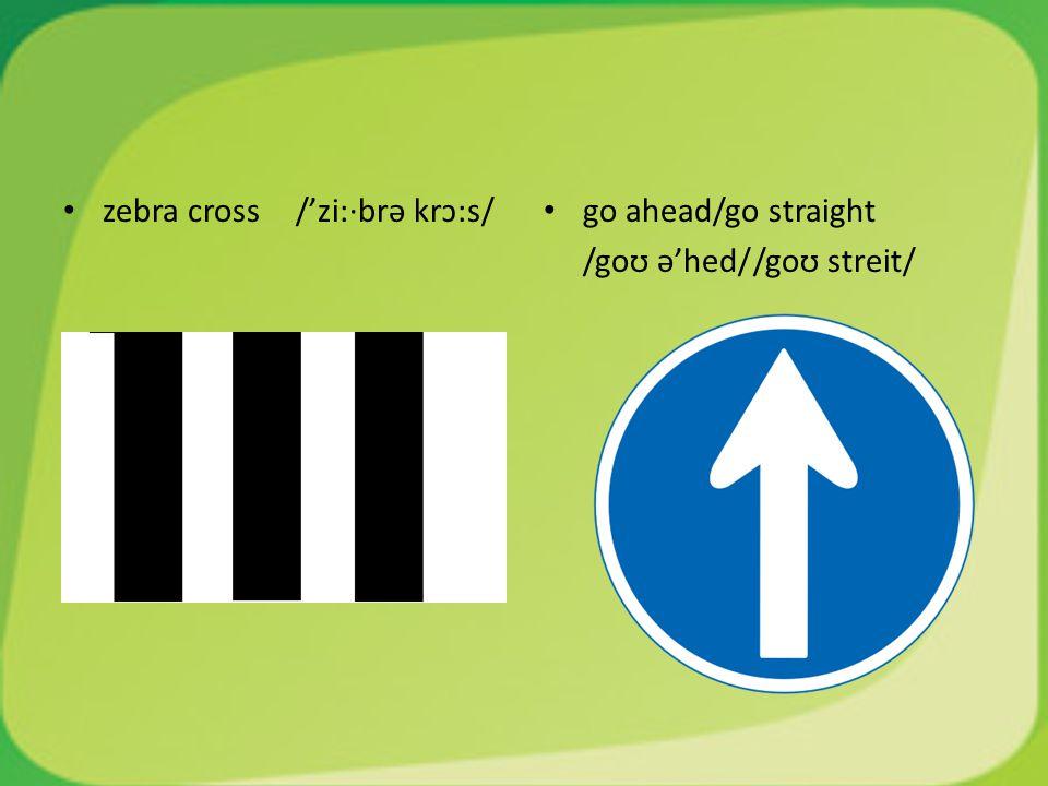 zebra cross /'zi:·brə krɔ:s/
