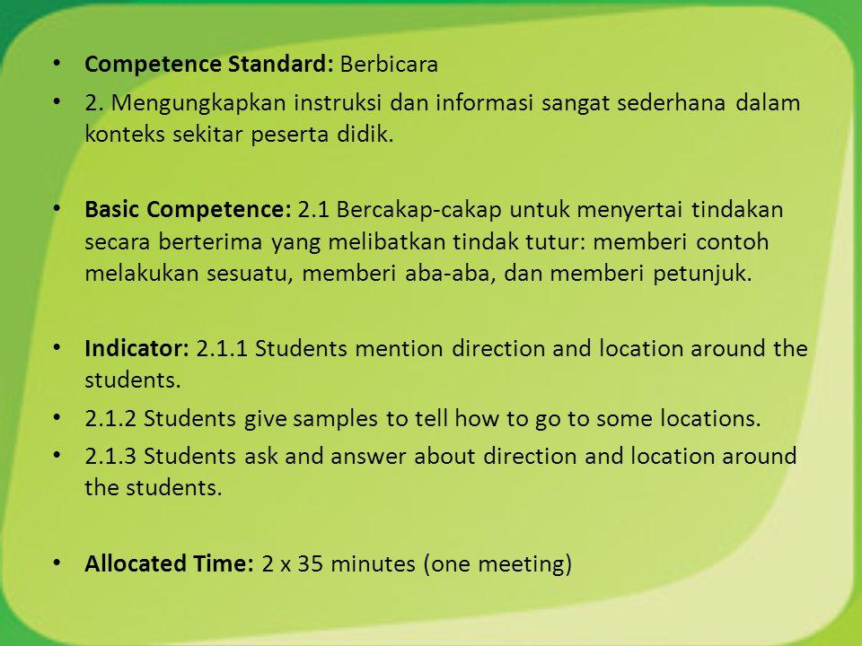 Competence Standard: Berbicara