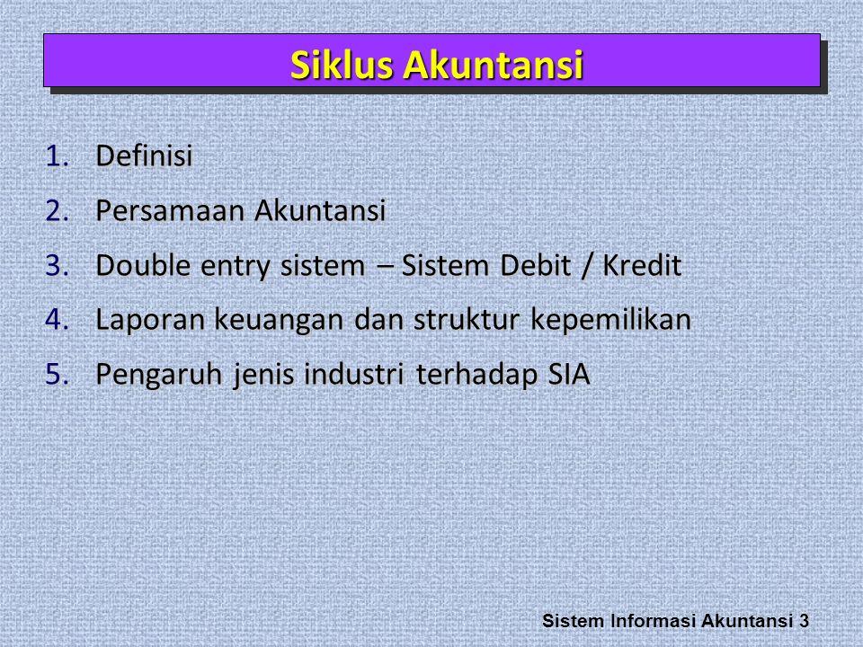 Siklus Akuntansi Definisi Persamaan Akuntansi