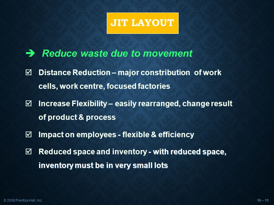 Reduce waste due to movement