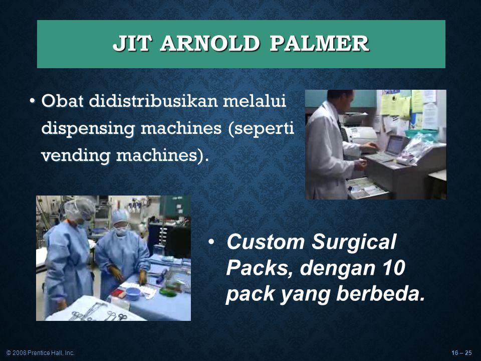 JIT ARNOLD PALMER Custom Surgical Packs, dengan 10 pack yang berbeda.