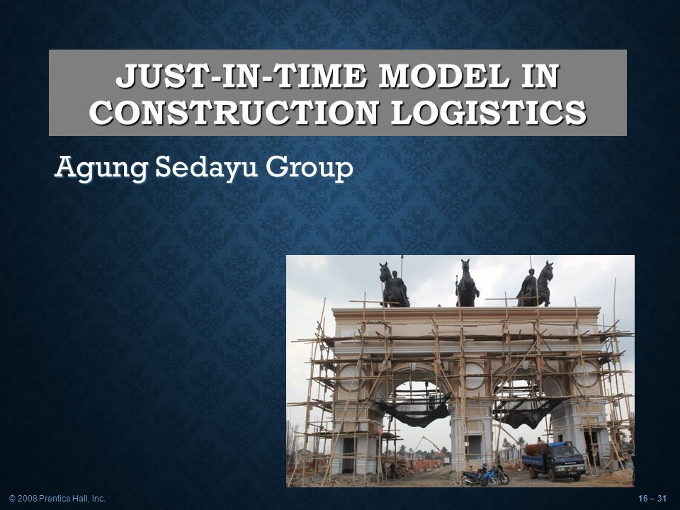JUST-IN-TIME MODEL IN CONSTRUCTION LOGISTICS