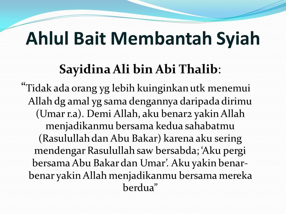 Ahlul Bait Membantah Syiah