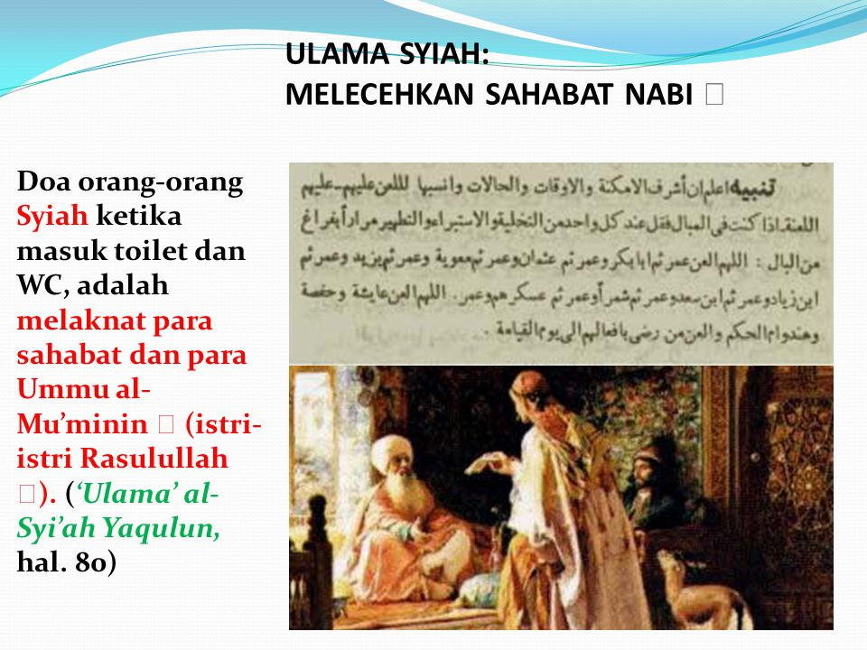 ULAMA SYIAH: MELECEHKAN SAHABAT NABI 