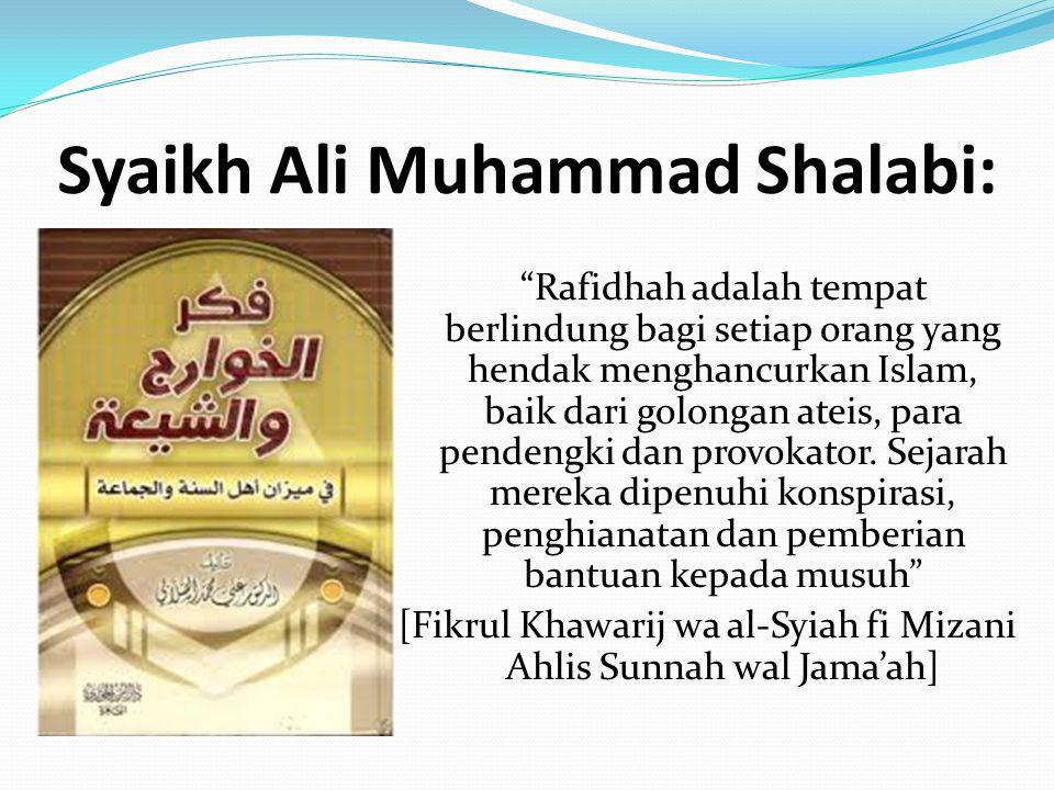 Syaikh Ali Muhammad Shalabi: