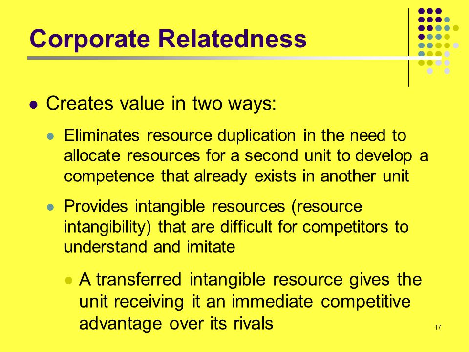 Corporate Relatedness
