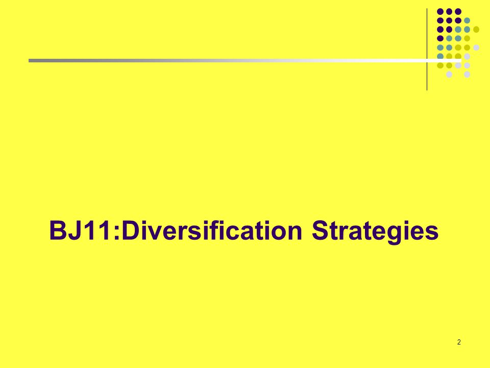 BJ11:Diversification Strategies