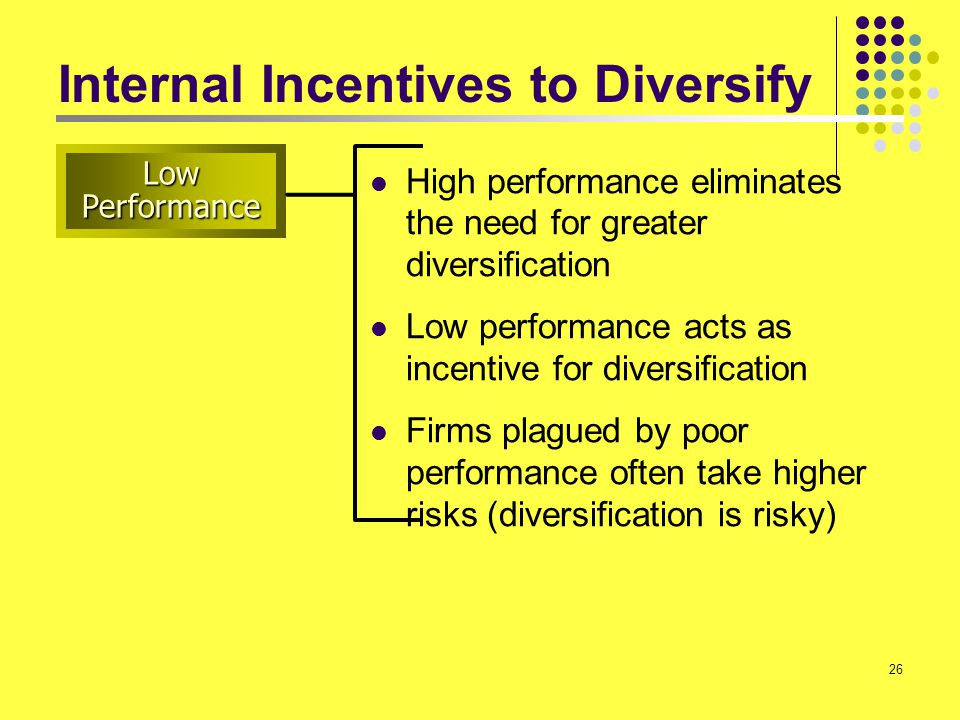Internal Incentives to Diversify