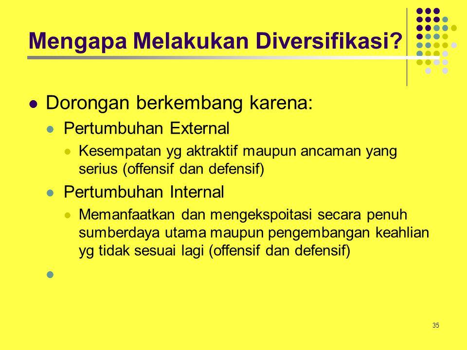 Mengapa Melakukan Diversifikasi